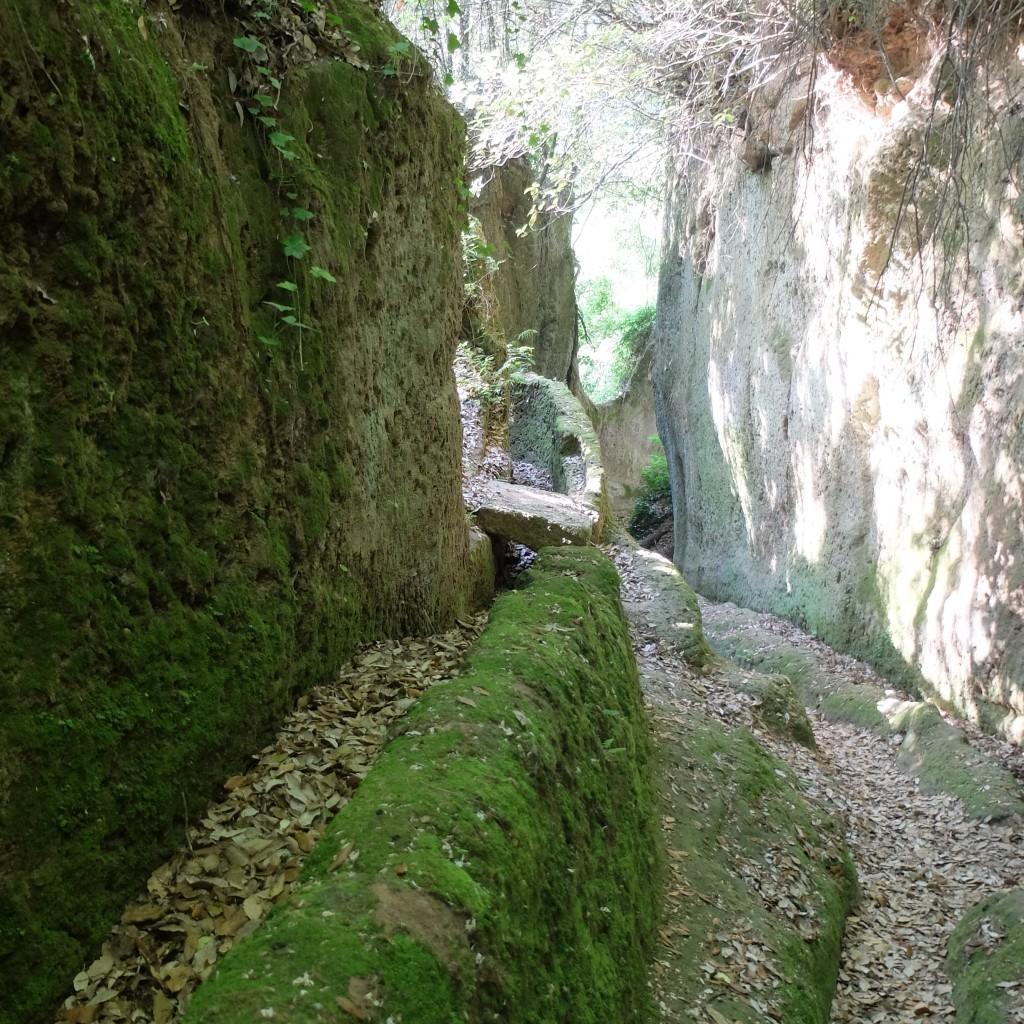 Via cava di Fratenuti a Pitigliano