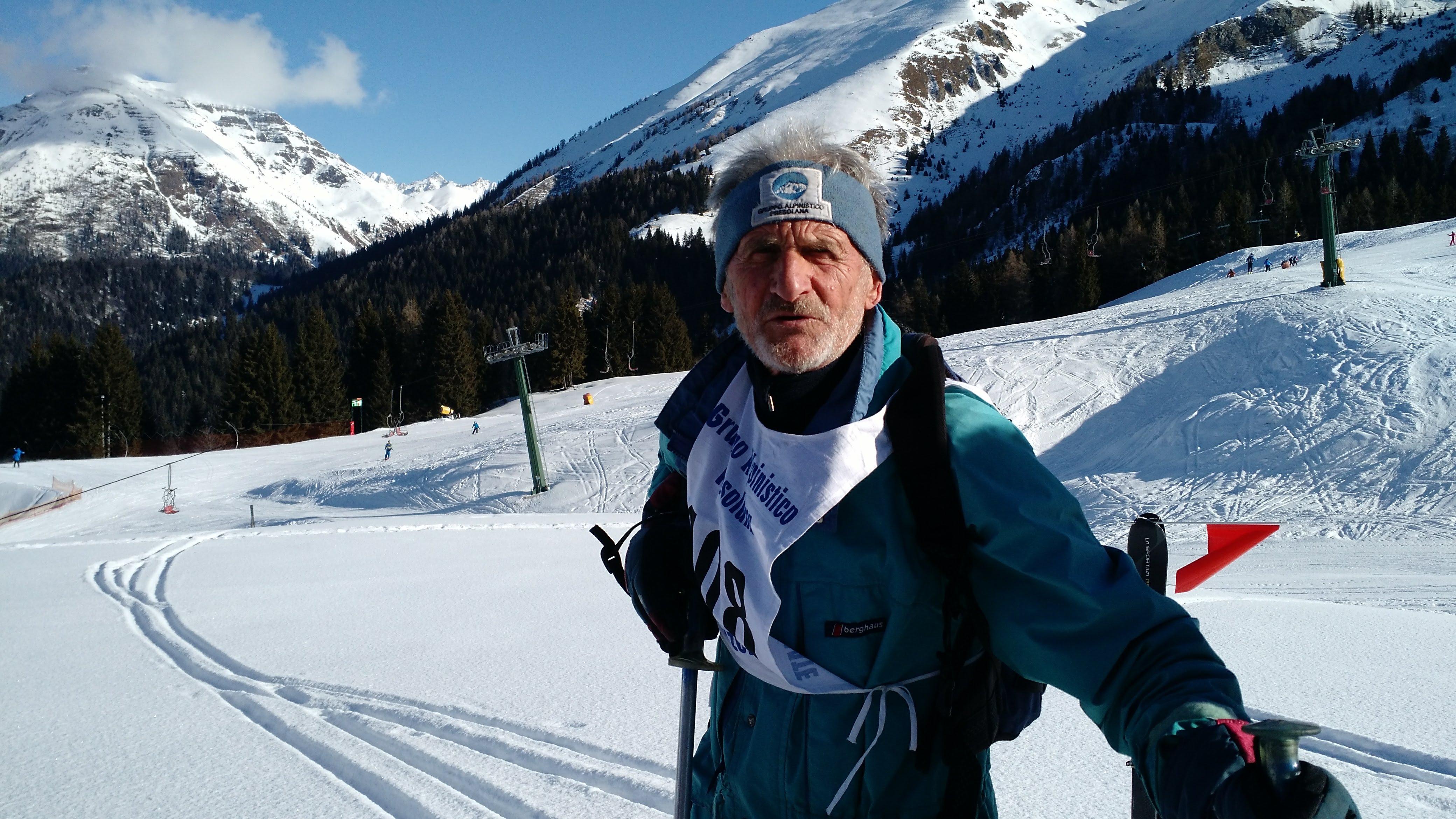 Angelo, il più esperto scialpinista in gara!