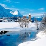 ENGADIN St. Moritz: Winterpanorama Sils