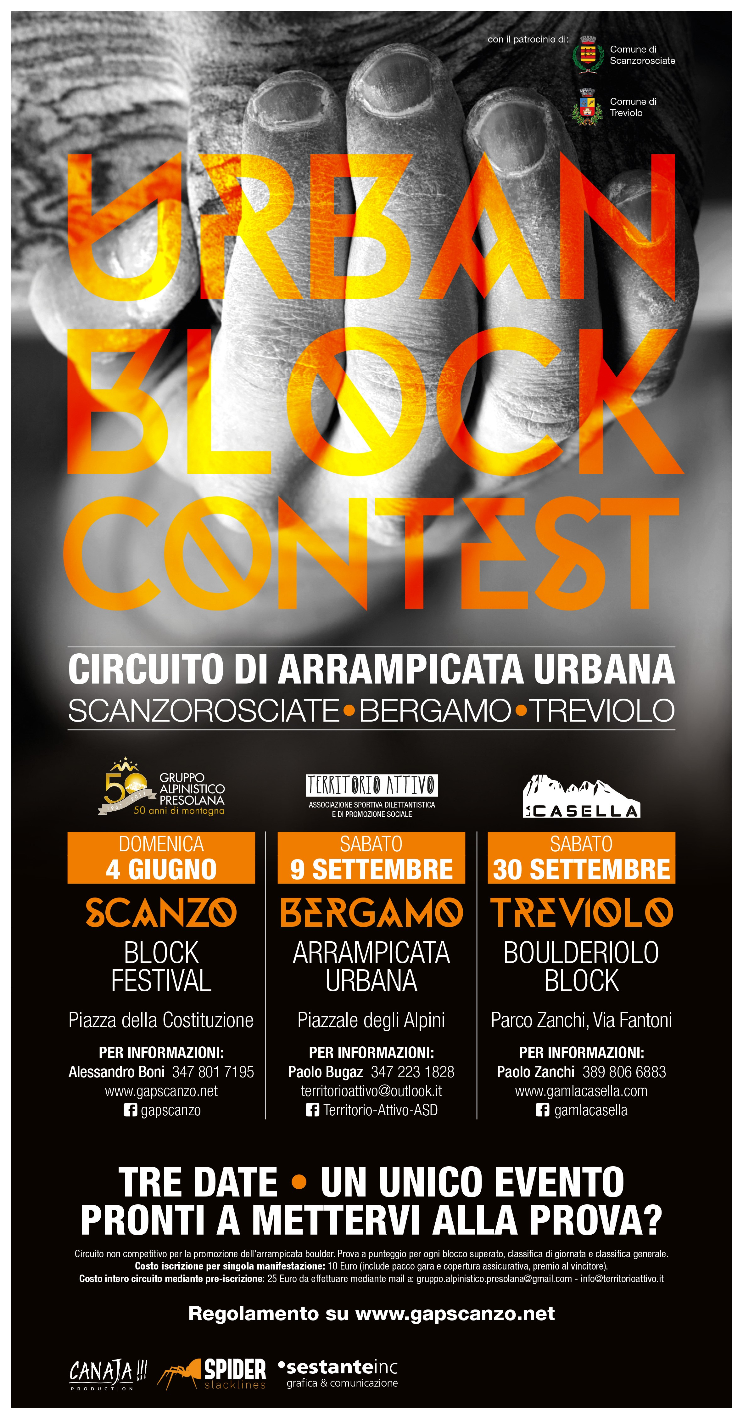 URBAN BLOCK CONTEST – Circuito di Arrampicata Urbana