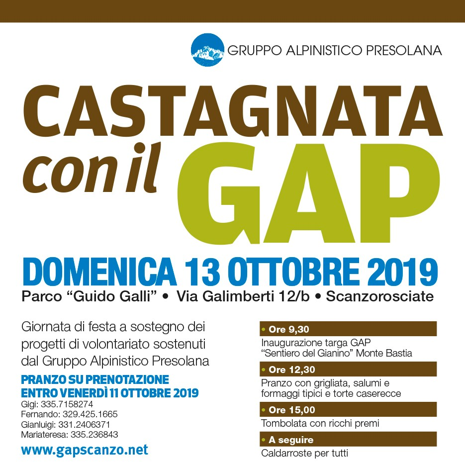 Castagnata solidale GAP – 2019