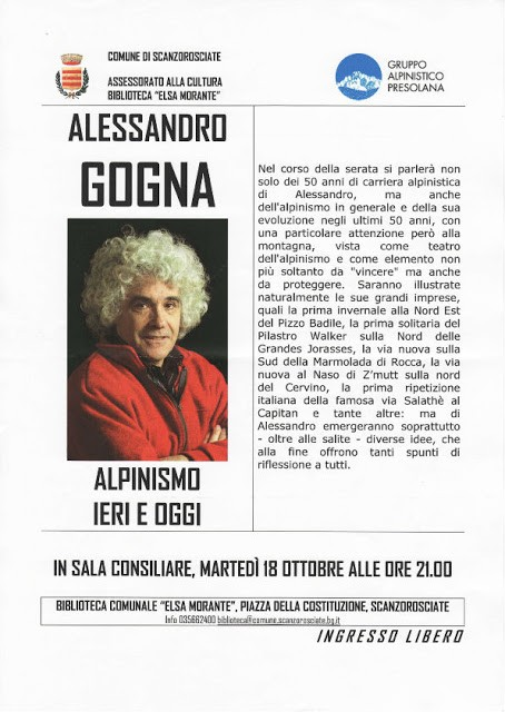 Alessandro Gogna a Scanzorosciate