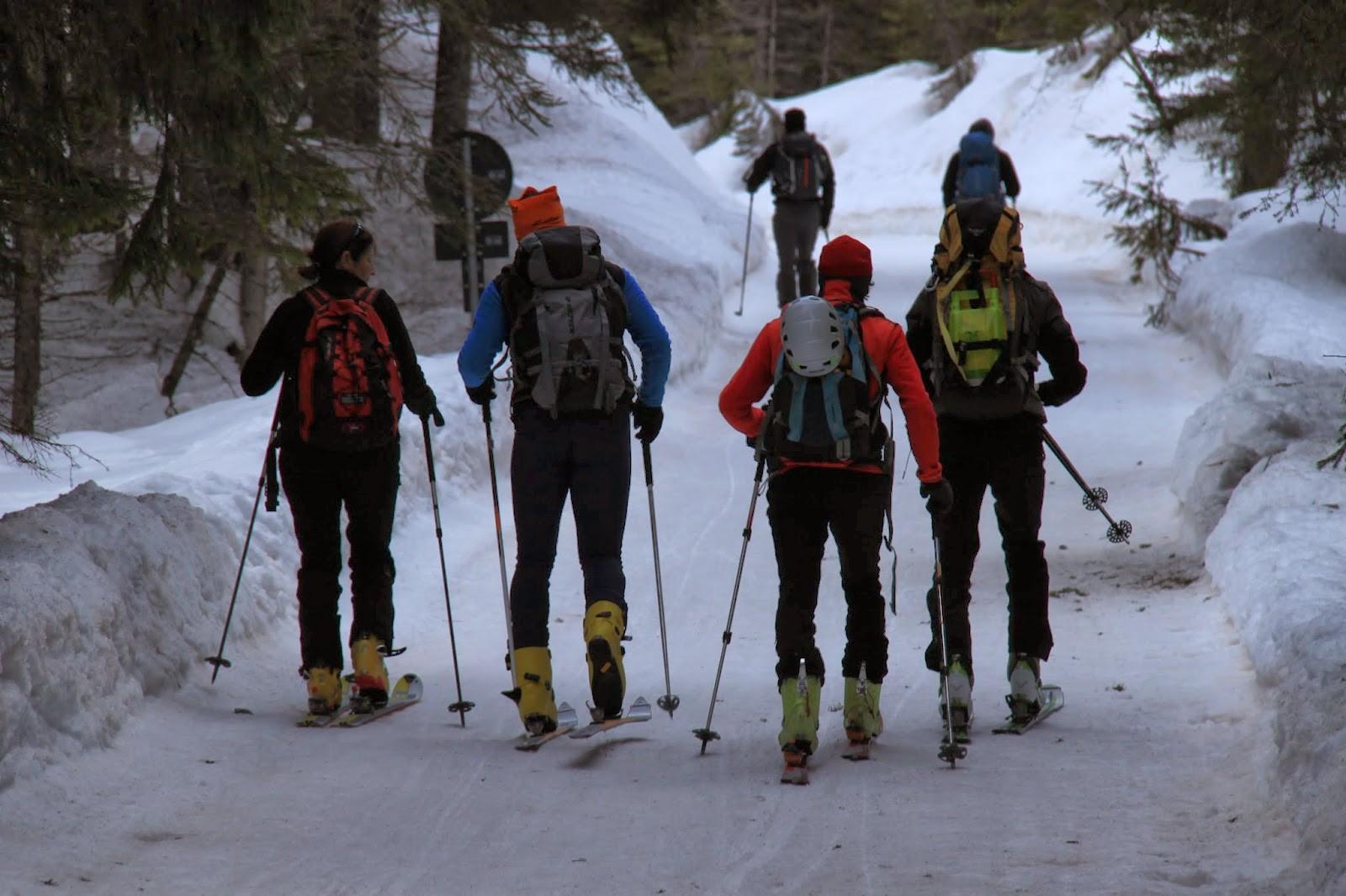 Cima Piatta Alta (Hochebenkofel) 2905 m – Scialpinismo in Valpusteria 2/3