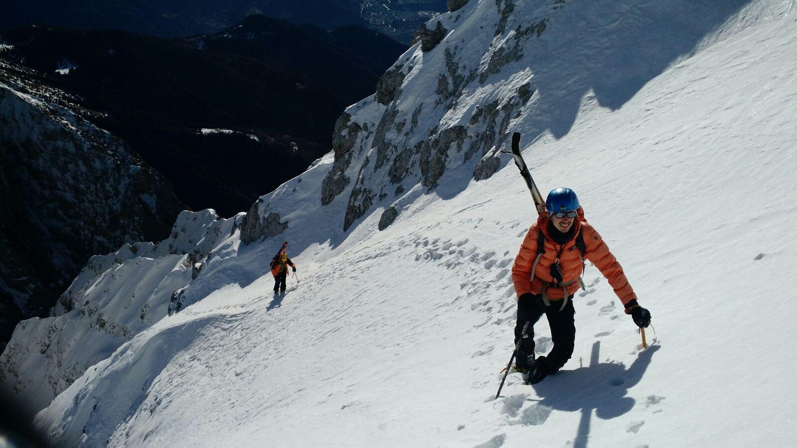 Cimon della Bagozza (2.407 m) con gli Sci