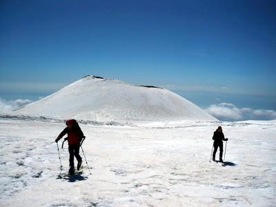 M. Etna con gli sci…